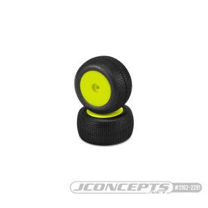 JConcepts Mini-T 2.0 Sprinter Pre-Mounted Rear Tires (Yellow) (2) Pink JCO3102