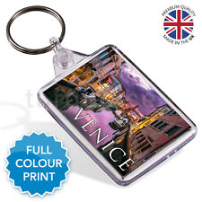 Venice Italy Souvenir Photo Gift Keyring Key Fob 50 x 35 mm | Medium
