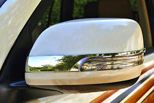 Chrome Rearview Side Wing Door Mirror Cove Trim for Toyota Prado FJ150 2014-2016