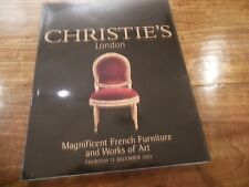 CHRISTIES London, Magnificent French Furniture and Works of Art, Dec. 12, 2002