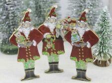 Decorazioni babbo natale in legno per albero di Natale