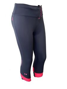 Under Armour Pink  Ribbon Womens 3/4 Tights Size XS