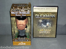 NEW Funko DUCK DYNASTY Gift Set JASE ROBERTSON Bobblehead Wobbler Doll & DVD