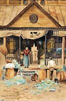 Old French Market, New Orleans by William Woodward. Canvas City Art. 11x17 Print