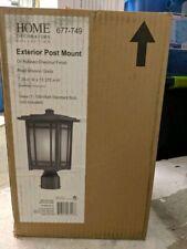 Home Decorators Oxford 1-Light Oil-Rubbed Chestnut Outdoor Post Mount Lantern