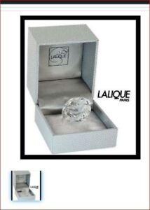 Lalique Bague 54 Size 6.75 Fleur Ronces Clear Crystal Ring Mint in Box