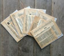 Vintage Mini Book Pages Ephemera Pack Scrapbooking Junk Journal 25 pages
