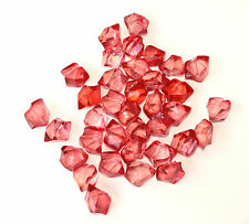 RED ACRYLIC ICE 480GRAMS (2cm wide) Scatters & Vase Fillers for WEDDINGS