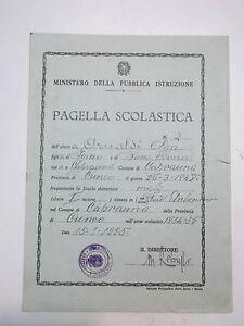 PAGELLA SCUOLA ELEMENTARE DI CAPRAUNA CUNEO 1954-55 10BIS-73