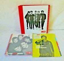 One Direction Office Depot Lot Ring Binder Spiral Notebook  Dividers NEW