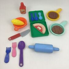Little Tikes Vintage 1980s Replacement Kitchen Play Food & Dishes Lot of 17 Toys