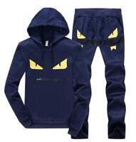 Mens Sport Monster Tracksuit Suit Sweatshirt Athletic Jacket + Pants Sportswear