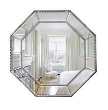 Del Amitri - Octagonal Framed Mirror - Beaded Mirrored Frame
