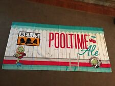 Bell's Brewing Pooltime Ale Beach Towel Winking Lizard Ohio Brewery Cherry Beer
