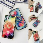 Glitter Bling Mirror Diamond Ring Square Case For Samsung A72 71 A52 51 A30 A20