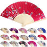 28Color Best Chinese Style Dance Wedding Party Silk Folding Hand Held Flower Fan
