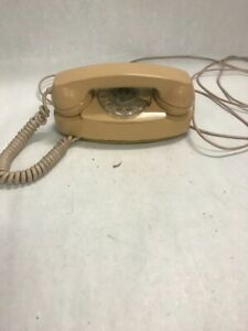 Vintage rotary dial phone telephone retro Princess Bell 702B Tan not tested