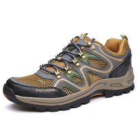 Men's Hiking Shoes Outdoor Trail Sneakers Summer Climbing Moutain Shoes Big Size