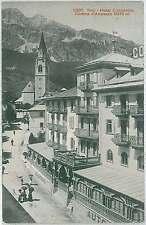 CARTOLINA d'Epoca BELLUNO provincia - Cortina d'Ampezzo : HOTEL CONCORDIA 1912