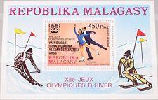 Madagascar MALAGASY 1976 bloc 13 a s/s c163 medal winner Olympics Innsbruck MNH