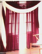 """TWO ADIELLE SOLID VOILE SHEER PANELS PAIR 60"""" X 84"""" NEW IN BAG"""