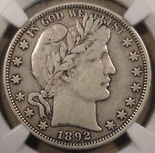 1892-O Barber Half Dollar NGC VF20