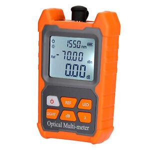 Mini FTTH Fiber Optic Optical Power Meter Cable Tester -70~+6 dbm Backlight