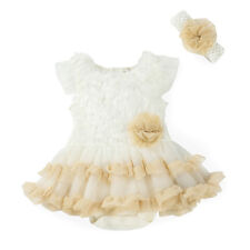 Newborn Toddler Headband+Baby Romper Jumpsuit Outfit Girl Tutu Clothing Set 6-9M