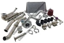 GT35 Turbo Kit For 1992-1998 BMW E36 6 Cyl Manifold Downpipe Intercooler Black