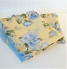 Pair Dan River Pillow Shams Yellow Blue Peony Floral Standard Size
