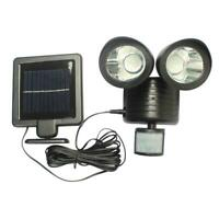 22LED Dual Solar Powered Garage Adjustable Motion Sensor Security Flood Light LJ