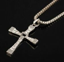 MENS SILVER CROSS NECKLACE  PENDANT FAST AND FURIOUS DOMINIC TORETTO'S  UK