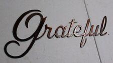 Metal Wall Art Decor Grateful Copper/Bronze Plated