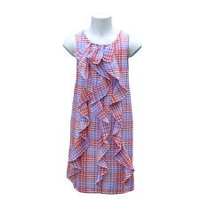 DPAM robe à carreaux à volants taille  10 ans