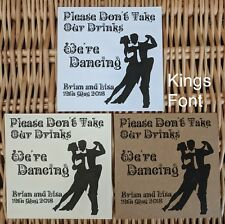 Don't Take My Drink Wedding Coasters (50 Coasters) - Square Personalised