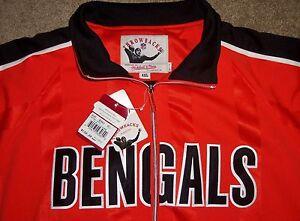 NEW 2008 CINCINNATI BENGALS NFL MITCHELL & NESS THROWBACK SHOTGUN JACKET 4XL NWT