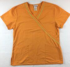 SB Scrubs Scrub Top Size Small Orange Nursing Medical Uniform S FLAW