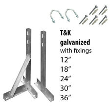 More details for wall t&k bracket aerial radio satellite pole fixings 12