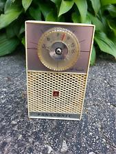 Vintage 1960's National Panasonic R-103 Cream White AM Transistor Pocket Radio