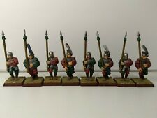 Spearmen x 16 Empire Warhammer AOS with Shields Tabletop Painted