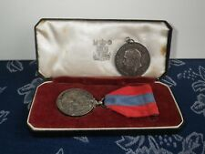 Silver Imperial Service Medal & WW1 War Medal - PTE. E.H Firman Norfolk Regiment