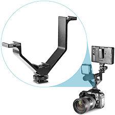 "Neewer 5""/12.5cm V-shape Triple 3 Universal Cold Shoe Mount Bracket for Camera"