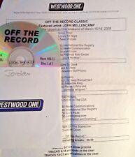 RADIO SHOW:OFF THE RECORD CLASSIC 3/15/08 JOHN MELLENCAMP w/13 INTERVIEWS