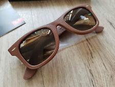 Ray-Ban 2140qm 116985 original Wayfarer Brown Leather Sunglasses gafas de sol