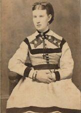 VICTORIAN WOMAN, JEWELRY, CRAWFORD'S GALLERY, STAMFORD CT., CDV STUDIO PHOTO