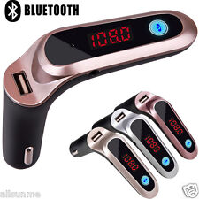 LCD Bluetooth Car Kit Cigarette Lighter MP3 FM Transmitter Handsfree USB Charger
