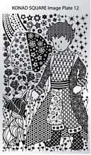 Konad Stamping Nail Art Square Image Plate 12