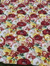 PB Dorm Pottery Barn Twin Duvet And Sham Multicolor Floral Watercolor Cotton