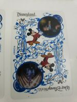 Disneyland Playing Cards Disney World Sorcerer Mickey Clear Coated Transparent