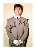 John Lennon (2) The Beatles A4 signed photograph poster. Choice of frame.